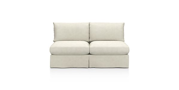 Axis Armless Sectional Full Sleeper in Sectional Sofas | Crate and ...