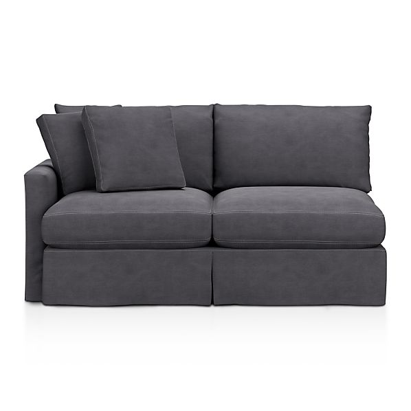 Lounge Slipcovered Left Arm Sectional Apartment Sofa