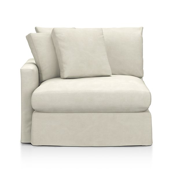 Lounge Slipcovered Left Arm Chair