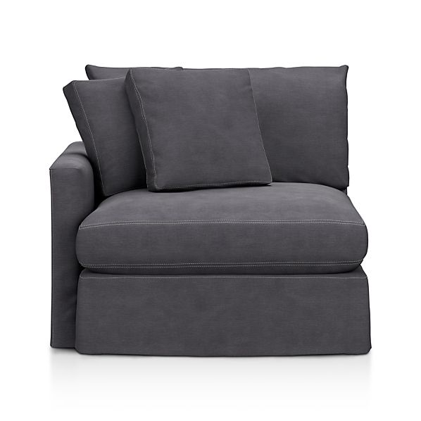 Lounge Slipcovered Left Arm Sectional Chair