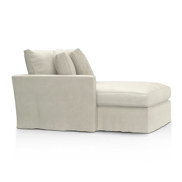 Lounge Slipcovered Left Arm Sectional Chaise