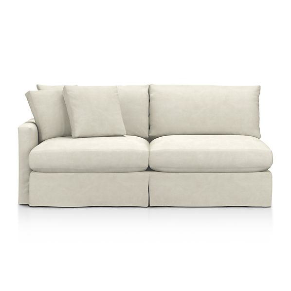 Lounge Slipcovered Left Arm Sectional Sofa