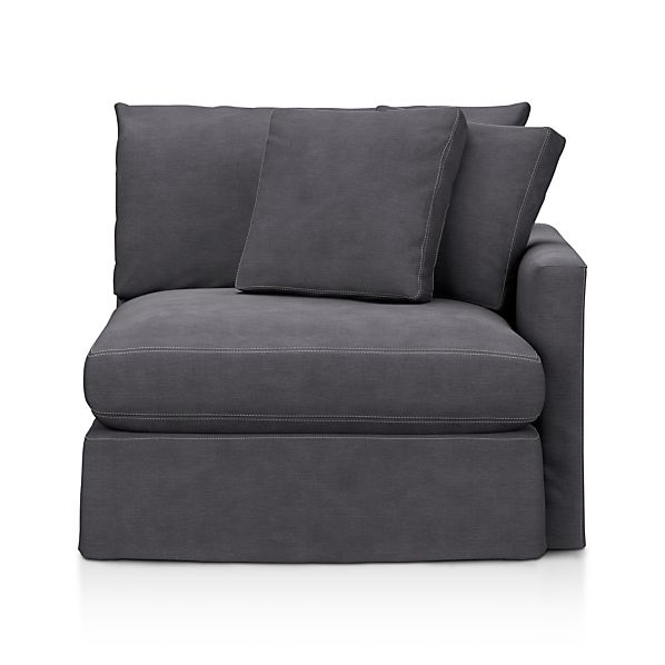 Lounge Slipcovered Right Arm Sectional Chair