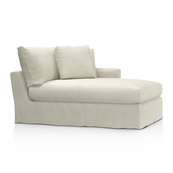 Lounge Slipcovered Right Arm Sectional Chaise