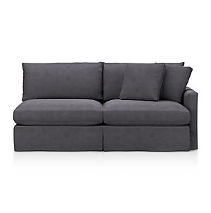 Sofas couches and loveseats crate and barrel for Sofa with only one arm