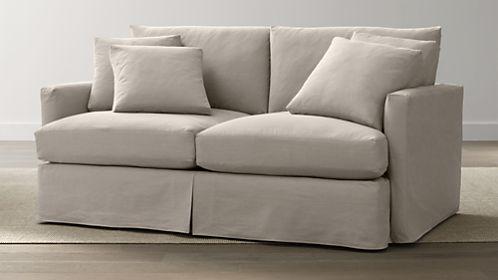 Lounge Slipcovered Apartment Sofa