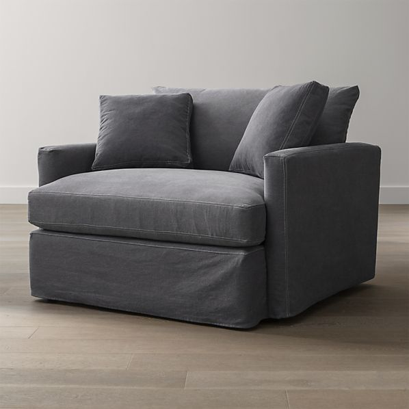 Lounge Slipcovered Chair and a Half