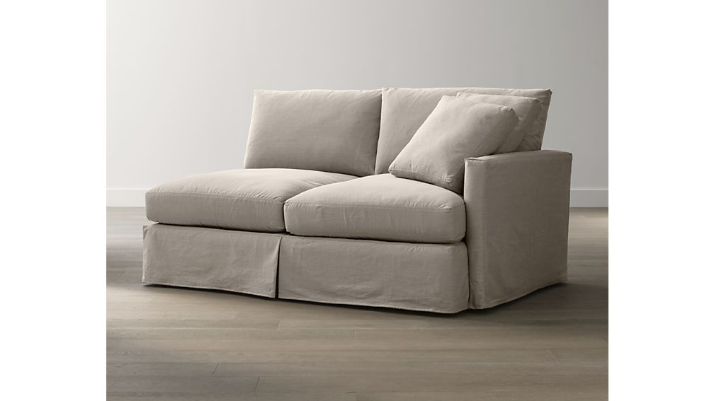 Lounge Slipcovered Right Arm Apartment Sofa