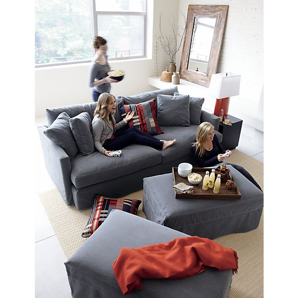 lounge slipcovered 93 sofa crate and barrel