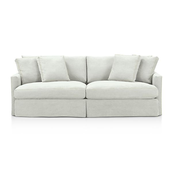 Slipcover Only For Lounge 93 Sofa Dove With Contrast