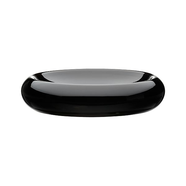 Low Black Centerpiece Bowl