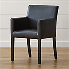 Lowe Onyx Leather Side Chair In Dining Chairs Crate And