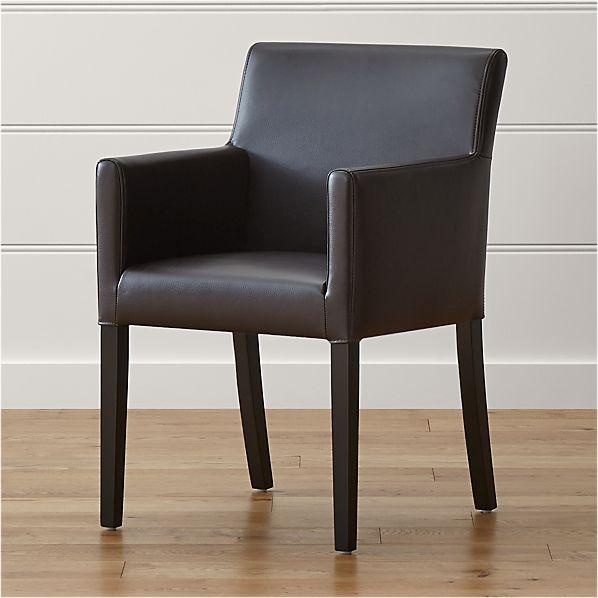 Lowe Chocolate Leather Arm Chair