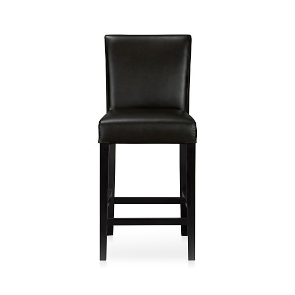 Lowe Onyx Leather Counter Stool In Bar Stools Crate And