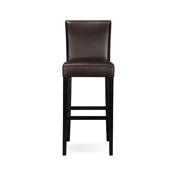 "Lowe Chocolate 30"" Leather Bar Stool"