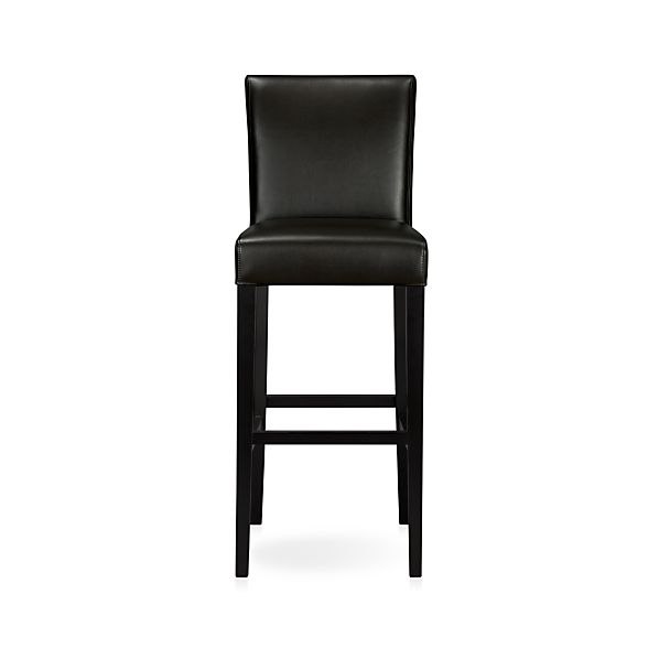 "Lowe Onyx 30"" Leather Barstool"