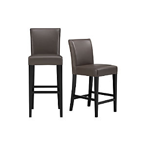 Lowe Smoke Leather Bar Stools