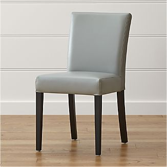 Lowe Pewter Leather Side Chair