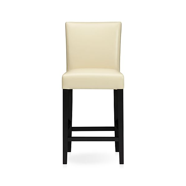"Lowe Ivory 24"" Leather Bar Stool"