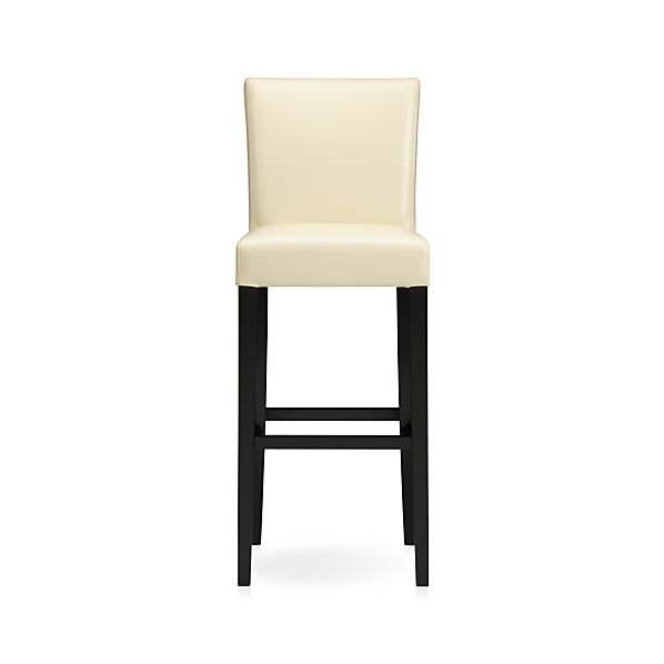 "Lowe Ivory 30"" Leather Barstool"