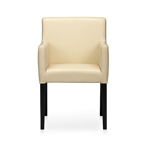Lowe Ivory Leather Arm Chair