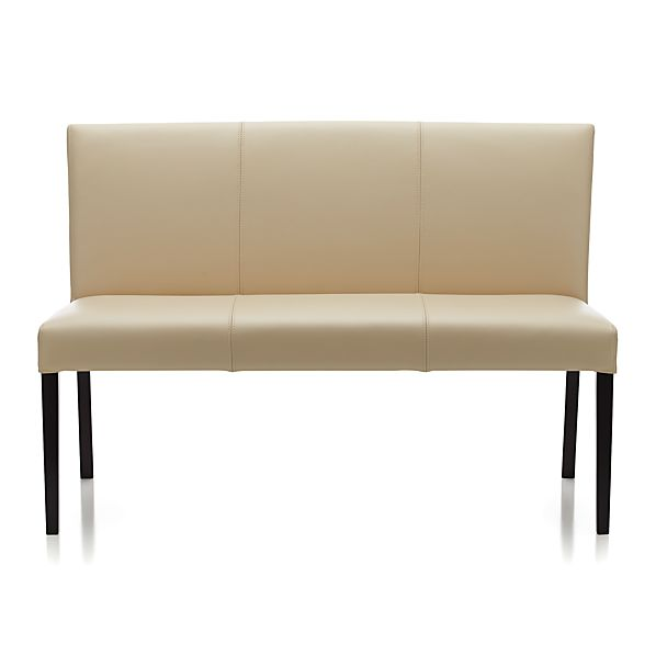 Sale alerts for Crate&Barrel Lowe Ivory Leather Bench - Covvet