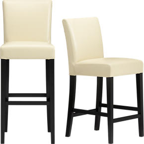 Lowe Ivory Leather Barstools