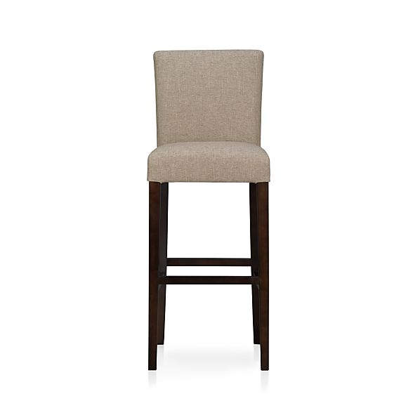 Lowe Khaki Fabric Bar Stool