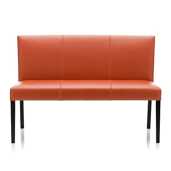 Lowe Persimmon Leather Bench