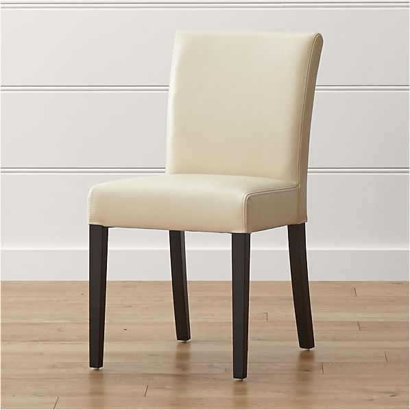 Lowe Ivory Leather Side Chair