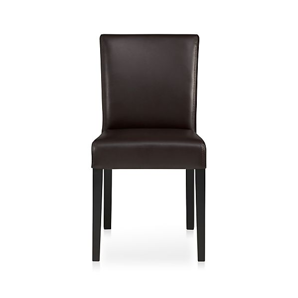 Lowe Chocolate Leather Side Chair