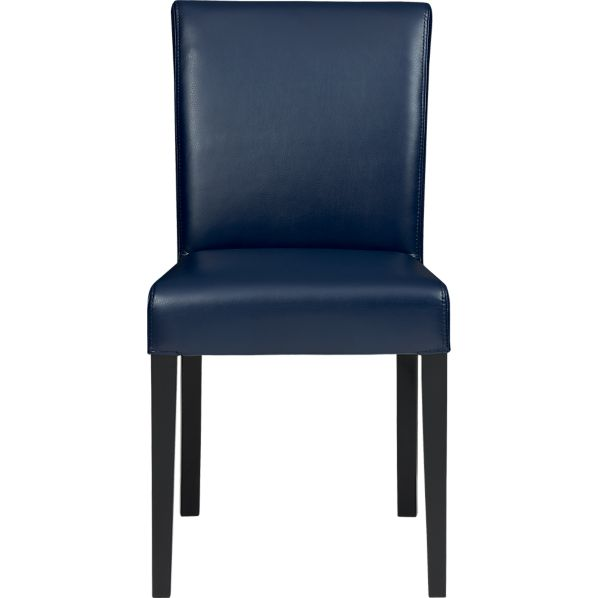 Lowe Indigo Leather Side Chair