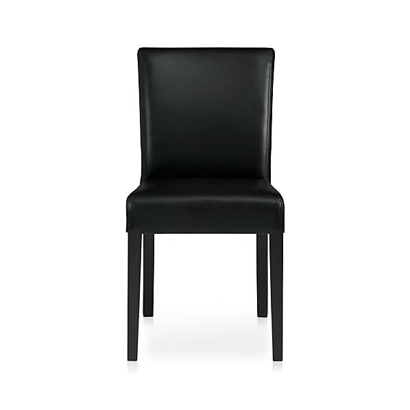Lowe Onyx Leather Side Chair