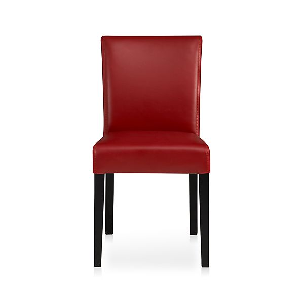 Lowe Red Leather Side Chair