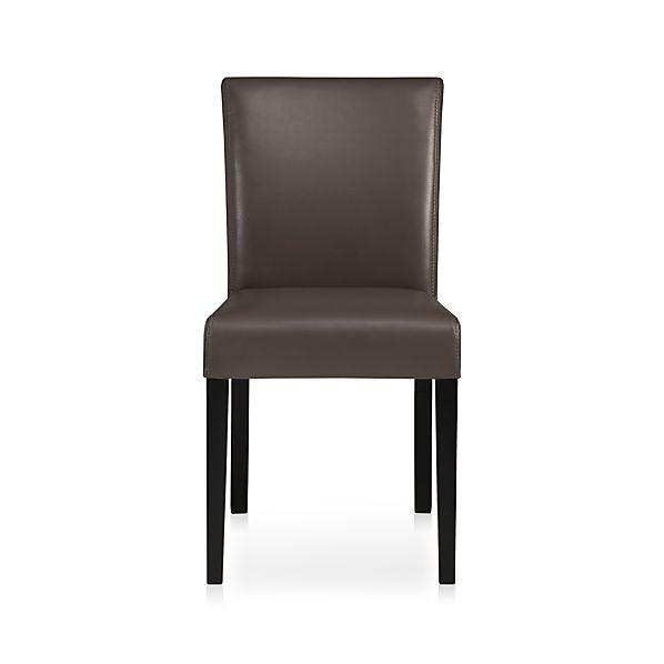 Lowe Smoke Leather Side Chair