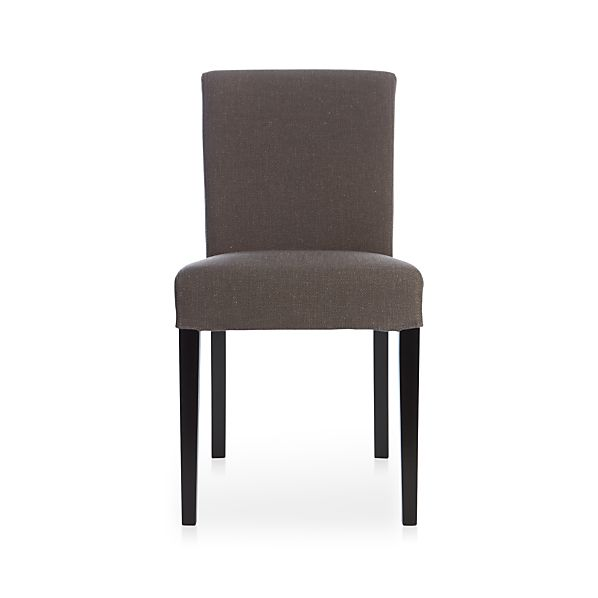 Lowe Smoke Upholstered Dining Chair Crate And Barrel