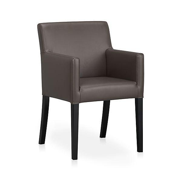 Lowe Smoke Leather Arm Chair