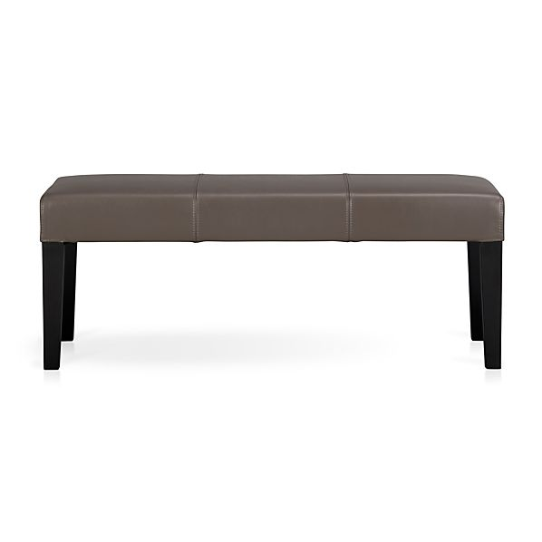 Lowe Smoke Leather Backless Bench