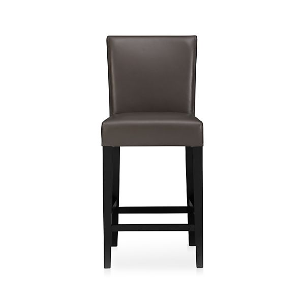 "Lowe Smoke 24"" Leather Counter Stool"