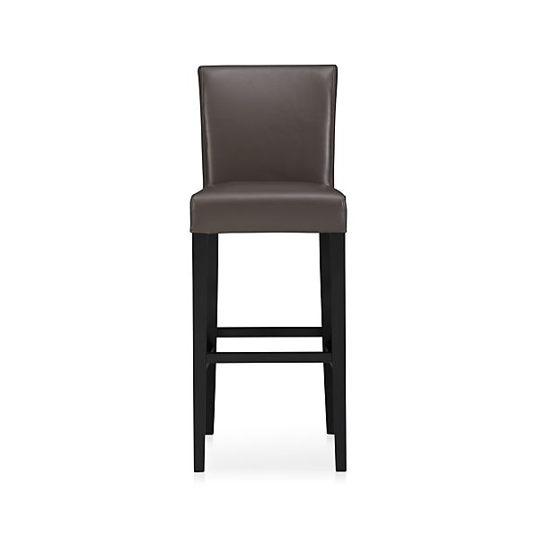 "Lowe Smoke 30"" Leather Bar Stool"