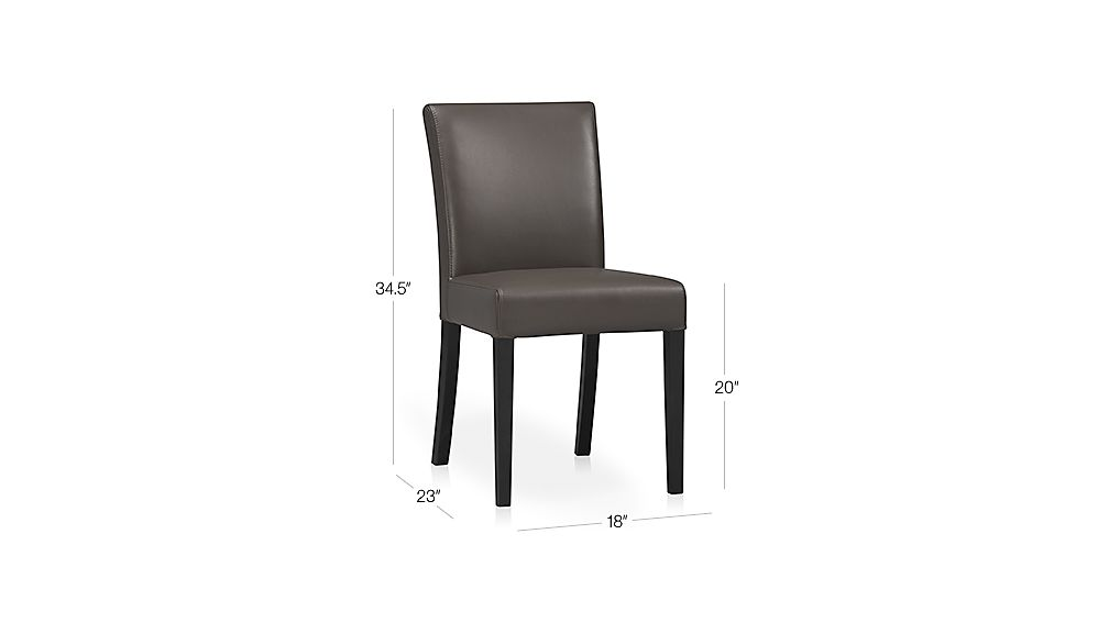 Lowe Smoke Leather Side Chair Dimensions