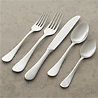 Lucca 20-Piece Flatware Set: four 5-piece place settings.