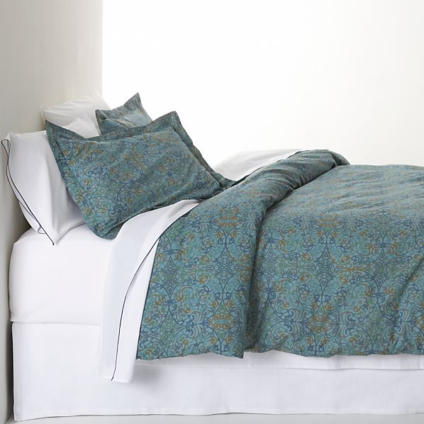 Lucia Blue Duvet Covers and Pillow Shams