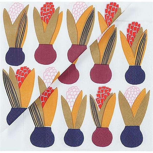 "Set of 20 Marimekko Lucia Paper 6.5"" Napkins"