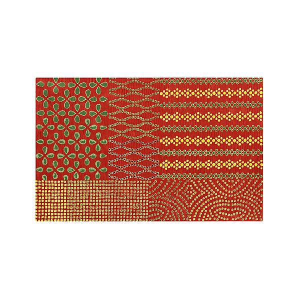 Lula Orange 5'x8' Rug