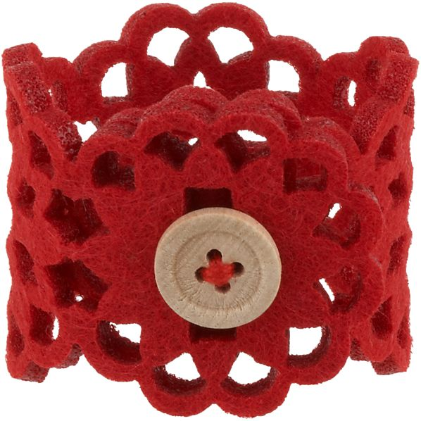 Lulea Red Napkin Ring