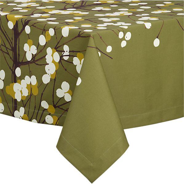 "Marimekko Lumimarja Green 60""x108"" Tablecloth"