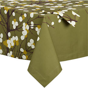 Marimekko Lumimarja Green Tablecloth and Napkin