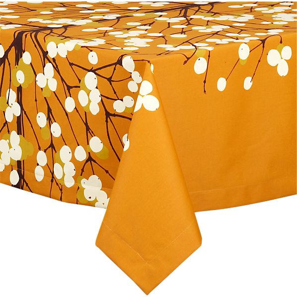 "Marimekko Lumimarja Orange 60""x108"" Tablecloth"