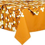 Marimekko Lumimarja Orange Tablecloth and Napkin
